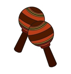 Isolated maraca instrument design vector