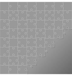 Grey puzzles pieces square jigsaw - 64 vector