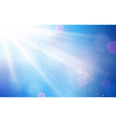 Abstract blue white sun light bokeh vector