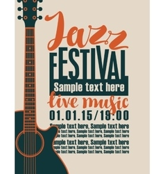 Concert of jazz music vector