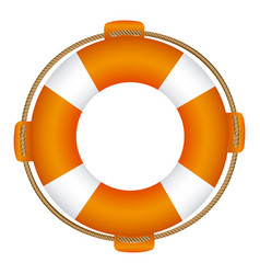 Colorful flotation hoop with rope vector
