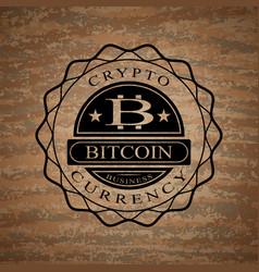 star-shaped bitcoinlogo vector image