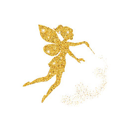 Magical fairy with dust glitters magical fairy vector
