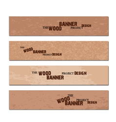 wood banner vector image