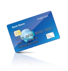 Object credit card vector