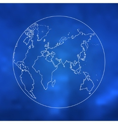 world map sketch art vector image
