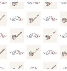 Hipster seamless pattern with mustaches and vector