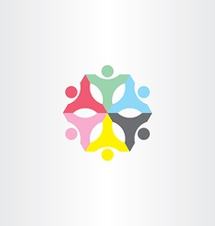 People teamwork color sign logo vector