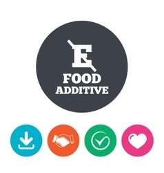 Food additive sign icon without e symbol vector