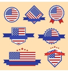 World Flags Series Flag of USA vector image