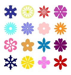 Flower miniset color vector
