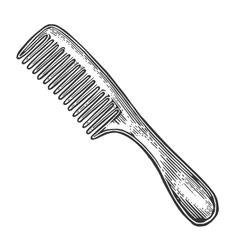 Comb black on white vector