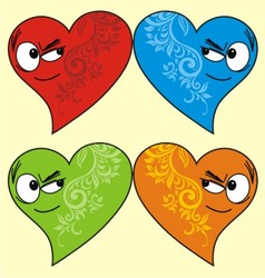 isolated love face vector image