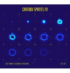 Animation frames or energy explosion sprites vector