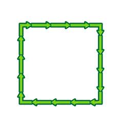 arrow on a square shape  lemon scribble vector image vector image