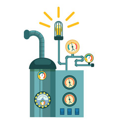 Automatic electrical mechanism icon vector