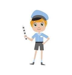 Boy future policeman vector