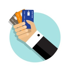 Convenience of paying by credit cards vector