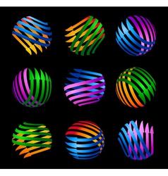 Decorative logo elements vector image vector image