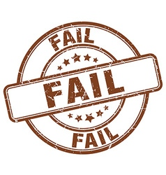 fail brown grunge round vintage rubber stamp vector image vector image