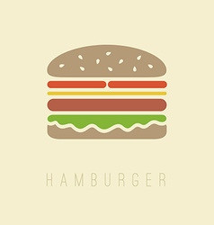 Flat hamburger symbol vector image
