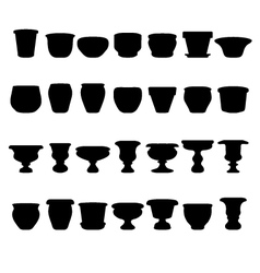 Flowerpots and pottery vector