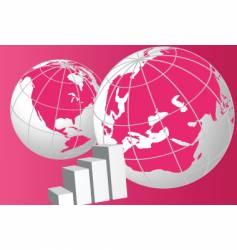 globe graph vector image vector image