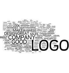 good logos make great sales tools text background vector image vector image