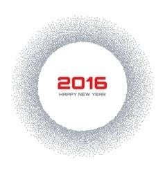 Gray Frame New Year 2016 Snow Flake Circle vector image vector image