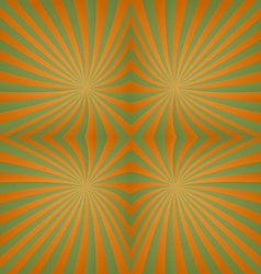 Green orange twisted abstract design vector image vector image