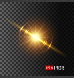 light flash or sunshine effect icon vector image