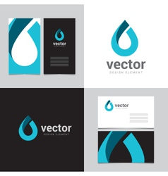 Logo design element with two business cards - 16 vector image