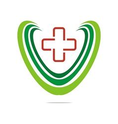 Logo Red Medical icon design vector image vector image