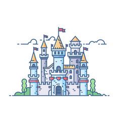 Medieval stone castle vector