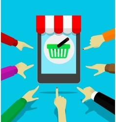 Mobile store concept vector image