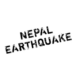 Nepal earthquake rubber stamp vector