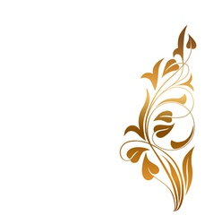 Ornamental white background vector image vector image