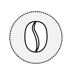 Sticker coffee bean fruit drink design vector