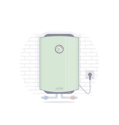 water heater electric vector image