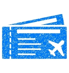 Airtickets grainy texture icon vector