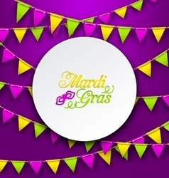 Mardi gras traditional card bunting background vector