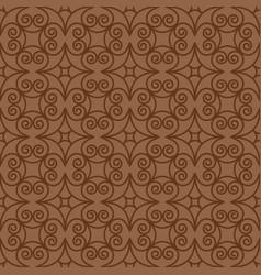 Vintage swirl oriental decorative pattern vector
