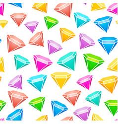 gem stones seamless pattern vector image