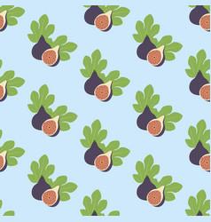 Fig fruit pattern vector