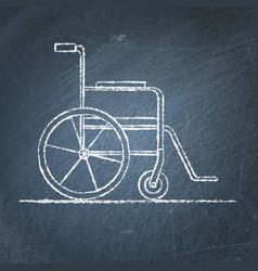 Wheelchair sketch on chalkboard vector
