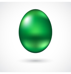 Green easter egg vector