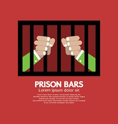 Prison bars graphic vector
