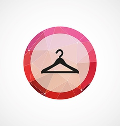 Hanger circle pink triangle background icon vector image