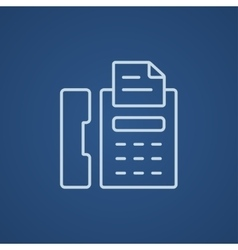 Fax machine line icon vector