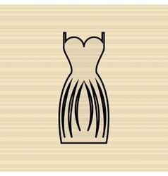 woman dress design vector image